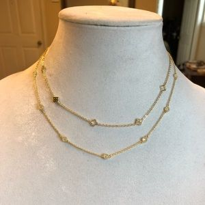14k Gold Plated Czirconia two layers